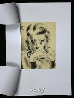 Jean Albert CARLOTTI (1909-2003) Portrait de femme art deco Lyon Les Nouveaux