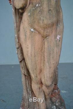 Jeune femme nue époque 1900 style Art nouveau sculpture