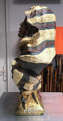 Koenig & Lengsfeld Buste de femme orientale en terre cuite époque art nouveau