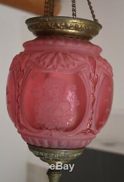 LANTERNE BACCARAT ROUGE rubis decor de femmes ART NOUVEAU LUSTRE lantern