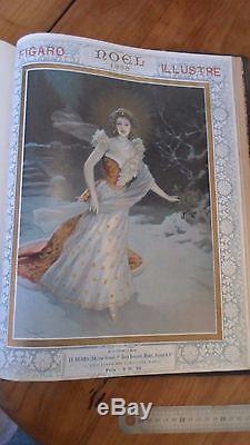 LE FIGARO ILLUSTRE RELIE 1898 année complète Couvertures art nouveau Defeure