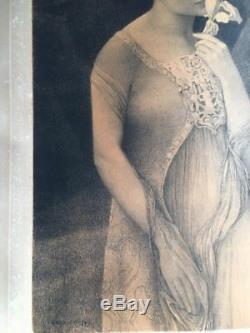 LITHOGRAPHIE ART NOUVEAU ART DECO FEMME /1897/numérotée /GIRARDOT / No Mucha