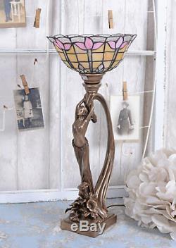 Lampe de table Art Nouveau lampe de bureau Secession style femme sculpture neuf