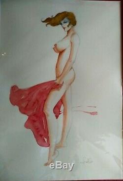 Leone Frollo Planche Bd Original Art Illustration Femme Nue