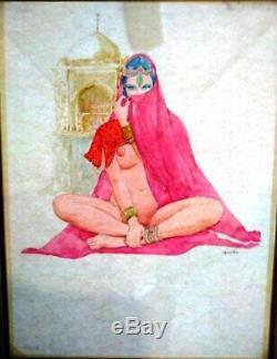 Leone Frollo Planche Bd Original Art Illustration Femme Orientale