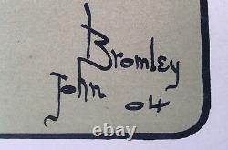 Lithographie Originale Arts & Crafts Femme Cheval John Bromley Anglais 1904