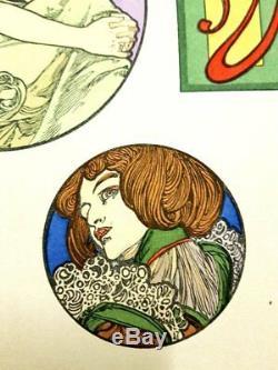 Lithographie Originale Femme Art Nouveau par Alphonse Mucha