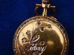 MONTRE DE COL / Pendant watch OR & DIAMANT / Gold & Diamond ART NOUVEAU