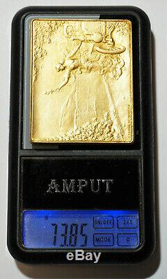 Medaille, Plaque Art Nouveau Par Eugene Gairal De Serezin, Femme, Automobile, Medal