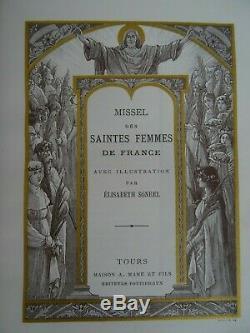 Missel des Saintes femmes de France Art nouveau 1900 Reliure Elisabeth Sorel