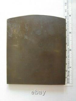 P Lenoir Médaille plaque en Bronze L'infini femme 366 grammes art nouveau