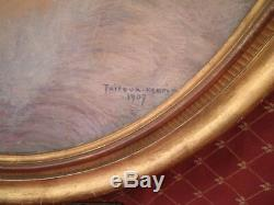 Pastel représentant Femme de qualité signé THIROUX 1907
