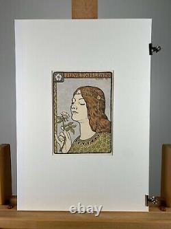 Paul Berthon, lithographie signée au crayon, Art nouveau, Symbolisme, Femme