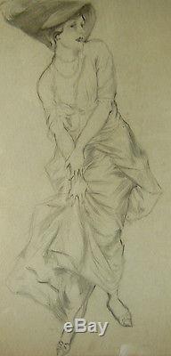 Paul Cesar Helleu / Dessin Ancien / Portrait De Femme / Art Nouveau / Art Deco