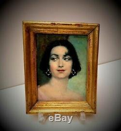 Peinture à L'Huile Femmes Portrait Art Nouveau