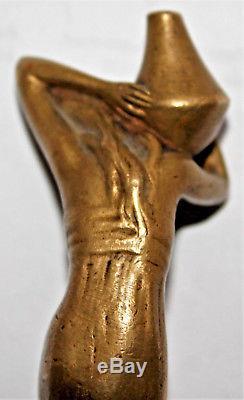 Peter Tereszczuk 1875-1963 cachet sceau bronze femme à la cruche art nouveau