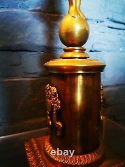Pied de lampe bronze dore Femme À Lantique art nouveau 70 cm