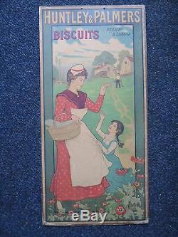 Plv Biscuits Anglais Huntley/palmers Femmes Art Nouveau Litho Belle
