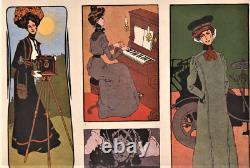 Porte-folio de Julius KLINGER La femme dans la décoration moderne Art Nouveau