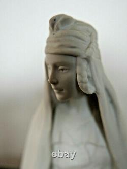 Rare biscuit femme Orientaliste HAVILAND signé SAVINE Limoges ART NOUVEAU