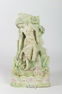 Royal Dux Bohemia Vase Femme Art Nouveau