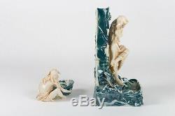 Royal Dux Bohemia Vase Femme Art Nouveau Porcelaine