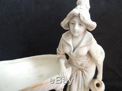 Royal Dux Bohemia vide poche FEMME à la grenouille Art Nouveau Jugendstil