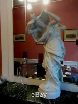 SCULPTURE FEMME BISCUIT ART NOUVEAU J. CAMBOS 74 cm
