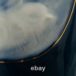 SUBLIME VASE signé MARCEL CHAUFRIASSE porcelaine LIMOGES décor FEMME ART NOUVEAU
