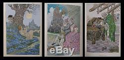 SYMBOLISME ART-NOUVEAU FRANCE (Anatole) / MOSSA Sept femmes Barbe-Bleue
