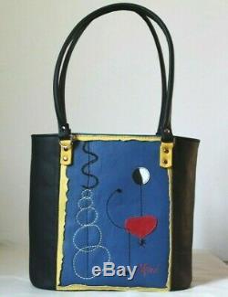 Sac à dos fait main ITALY en cuir véritable MIRO' pour femme rouge bleu ART