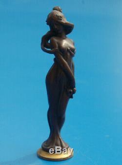 Sceau Cachet ancien Femme Art Nouveau 1900 Bronze Tampon Antique Seal