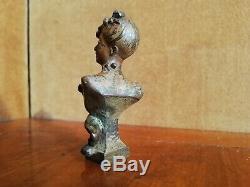 Sceau En Bronze Art Nouveau Buste De Femme