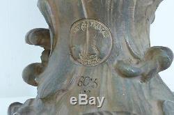 Sculpture Buste de femme Terre Cuite Signé Alfred Foretay art nouveau