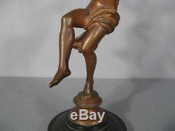 Sculpture Nymphe Au Raisin / Bronze Femme Epoque 1900 / Bronze Femme Art Nouveau