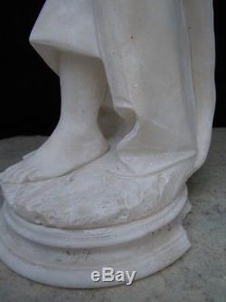 Sculpture femme aux pavots Adolpho Cipriani d'époque art nouveau