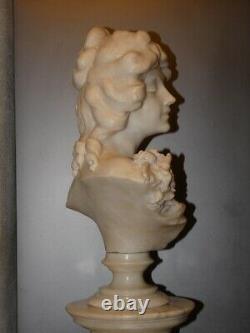 Sculpture jeune femme sur colonne Art Nouveau signé CIPRIANI (1880-1930)
