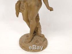 Sculpture terre cuite Jeune femme nue Nymphe Lévy Art Nouveau XIXe