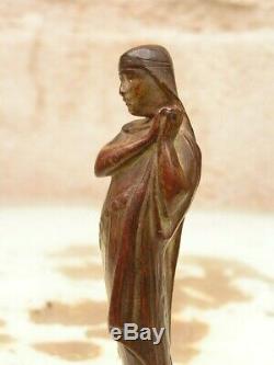 Seal Sceau Cachet Art Nouveau En Bronze Femme Tres Longue Chevelure Signe