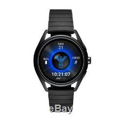 Smartwatch Homme EMPORIO ARMANI MATTEO ART5017 Silicone Noir Touchscreen NEW
