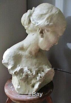 Statue Sculpture Femme 1900 Art Nouveau épreuve d'artiste Alfred Finot 1876-1947