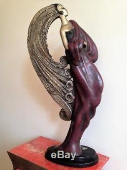 Statue art déco / nouveau femme de Claude LeClerc