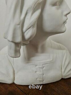Superbe Buste Femme Art Nouveau Biscuit De SEVRES signé