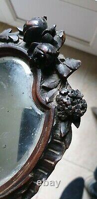 Superbe Face A Main Using Hand-held Bois Sculpte Art Nouveau Modern Art Femme