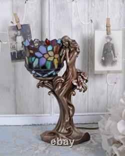 Tiffany lampe Art Nouveau lampe de table figure féminine lampe de chevet femme