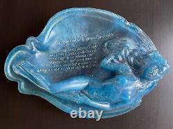 Unique curiosa coupe grande pâte de verre curiosa femme nue Art Nouveau signé