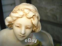 VASE FEMME ART NOUVEAU 1900 ROYAL DUX BOHEMIA JUGENDSTIL HT 37 cm CIRCA 1900