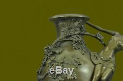 Vase Figurine Femme Sexy Fille Art Déco Style Nouveau Bronze Chaud Fonte