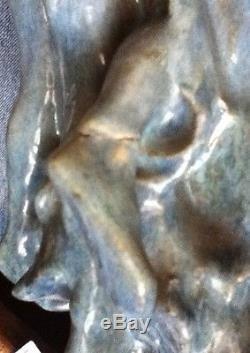 Vase HENRI ROGEROL nymphe farandole femmes ceramique art nouveau pottery woman