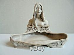 Vide Poches Ceramique Femme Art Nouveau 1900 Jugendstil Royal Dux Monogramme Ct